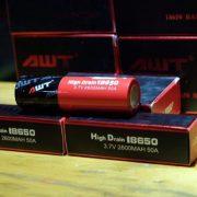 Pin Vape AWT 18650 2600mAh 50A xả cao cho Mech Mod