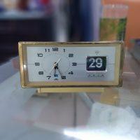 Đồng hồ cơ cót diamond clock có lịch mặt nhôm số nổi 9505