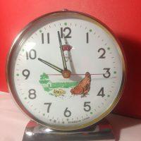 Đồng hồ cơ cót để bàn diamond clock nguyên bản gà mái mổ thóc 9705