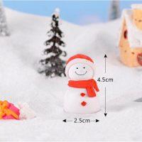 Tượng người tuyết mini phụ kiện trang trí tiểu cảnh terrarium