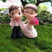 Cô dâu chú rể mini v2 phụ kiện trang trí tiểu cảnh terrarium